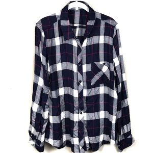 Le lis super soft flannel button up top xxl